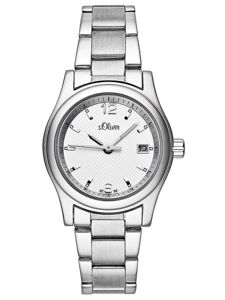 SO-929-MQ - s.Oliver Edelstahl Damen-Armbanduhr