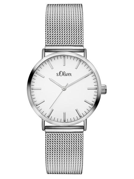 SO-3270-MQ s.Oliver Damen Mesh Armbanduhr