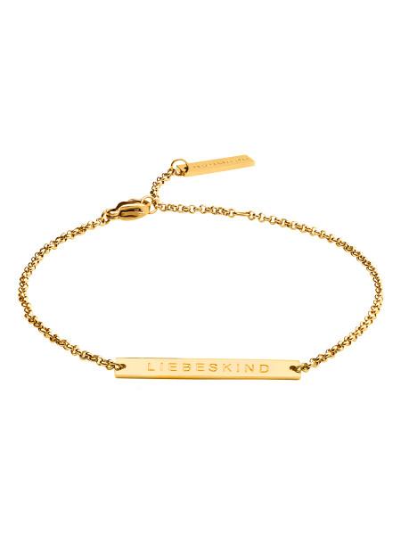 LJ-0377-B-20 LIEBESKIND BERLIN Bracelet in Edelstahl IP Gold