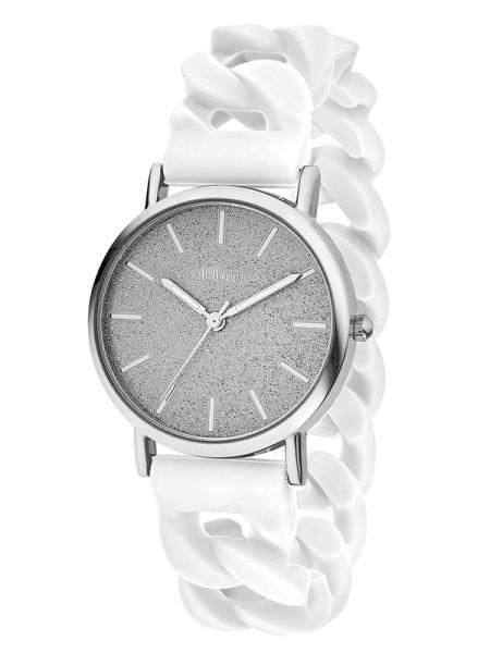 SO-3397-PQ s.Oliver Damen Silikon Armbanduhr