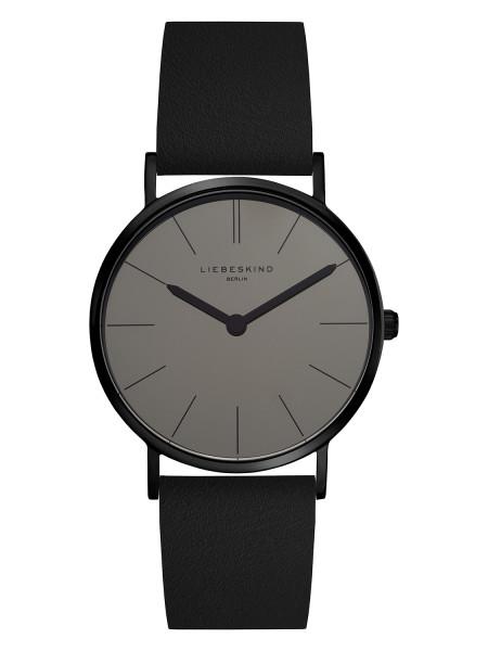 LT-0131-LQ LIEBESKIND BERLIN Armbanduhr Leder Vintage-Look, IP Black, 34 mm