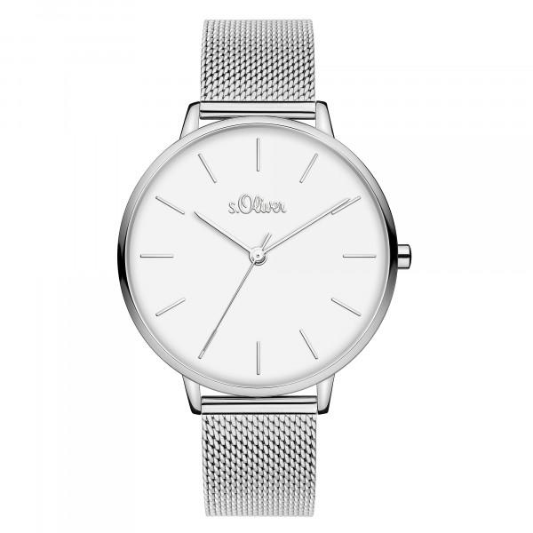 SO-3800-MQ s.Oliver Damen Edelstahl Milanaise Armbanduhr