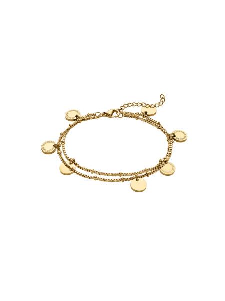 LJ-0394-B-20 Edelstahl IP Gold Armband, 20 cm