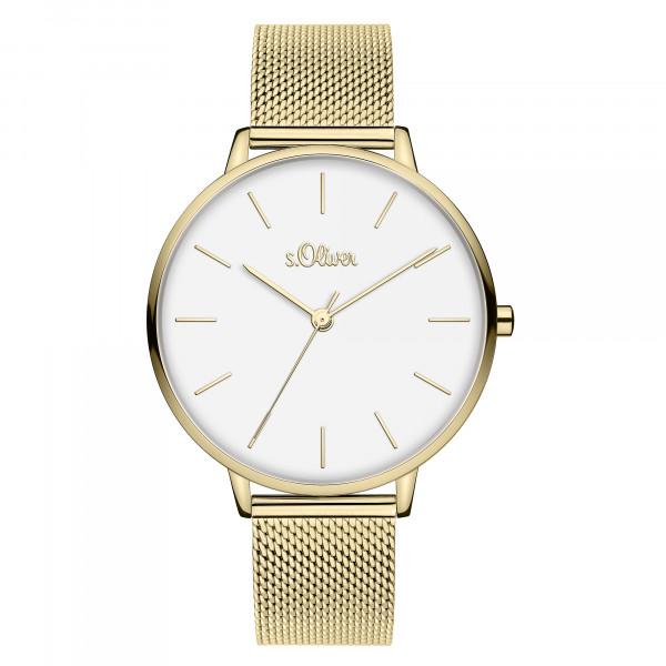 SO-3801-MQ s.Oliver Damen Edelstahl Milanaise Armbanduhr