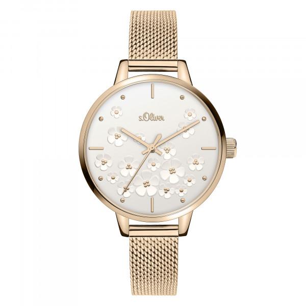 SO-3838-MQ s.Oliver Damen Edelstahl Milanaise Armbanduhr