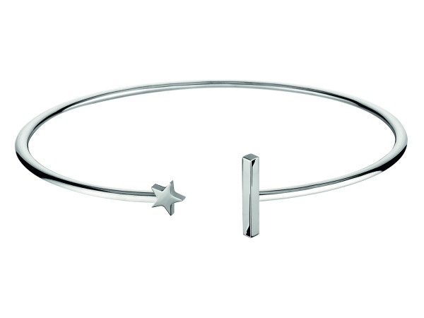 LJ-0137-B-58, Flexible Star´n Bar Bangle, Edelstahl, 58mm Ø