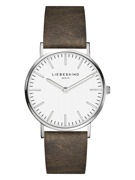 LT-0086-LQ LIEBESKIND BERLIN Armbanduhr Leder Vintage-Look Steel 34 mm