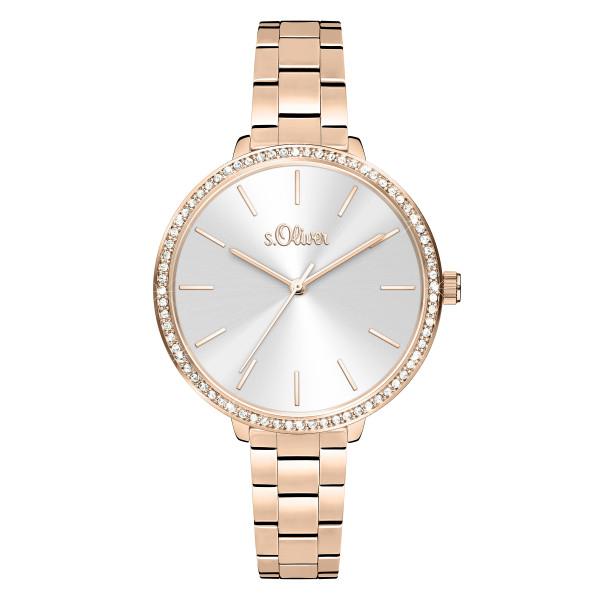 SO-4097-MQ s.Oliver Damen Edelstahlband Armbanduhr