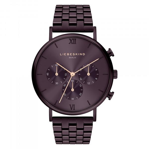 LT-0286-MC LIEBESKIND BERLIN Edelstahl IP Purple Armbanduhr, 40mm