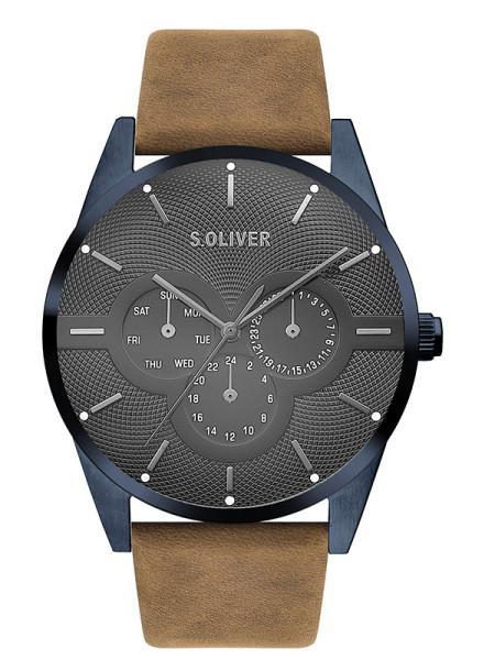 SO-3571-LM s.Oliver Herren Leder Armbanduhr