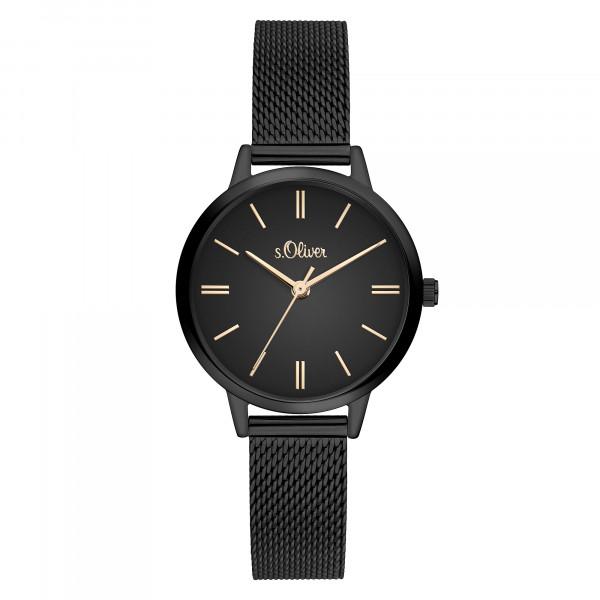 SO-3807-MQ s.Oliver Damen Edelstahl Milanaise Armbanduhr