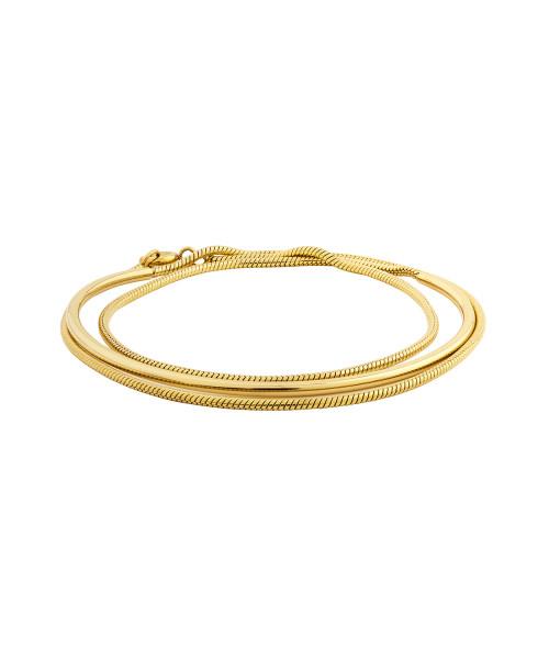 LJ-0356-B-62, Bracelet, Edelstahl, IP Gold