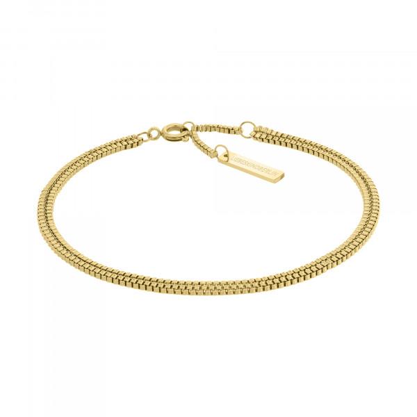 LJ-0453-B-20 LIEBESKIND BERLIN Zweireihiges Armband in Edelstahl, IP Gold