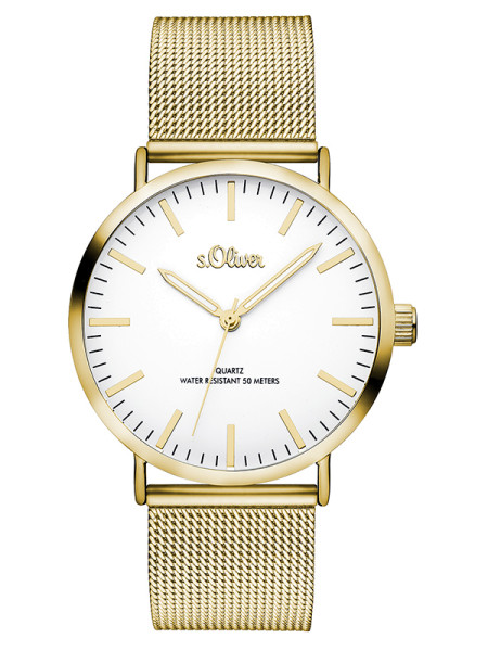 SO-3238-MQ s.Oliver Damen Metall Armbanduhr