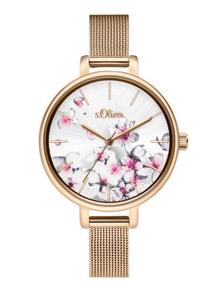 SO-3784-MQ s.Oliver Damen Edelstahl Milanaise Armbanduhr
