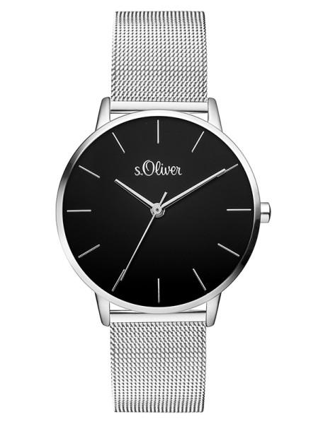 SO-3529-MQ s.Oliver Damen Edelstahl Milanaise Armbanduhr