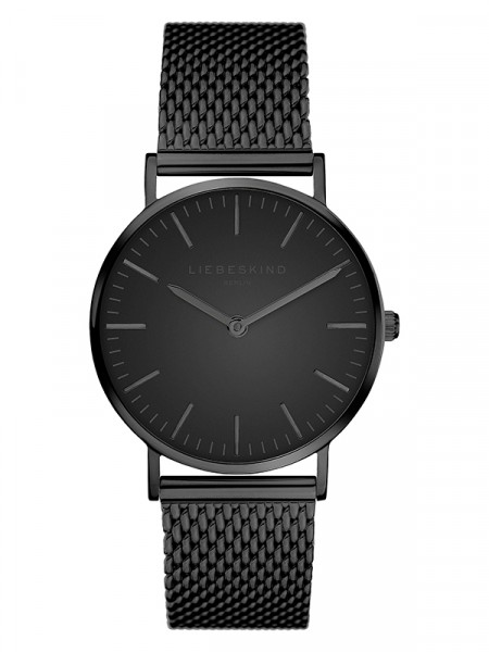 LT-0078-MQ LIEBESKIND BERLIN Armbanduhr Mesh Steel, IP Black 34 mm