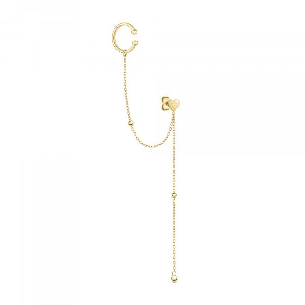 LJ-0863-E-70 LIEBESKIND BERLIN Ohrring mit Ear cuff aus Edelstahl IP Gold