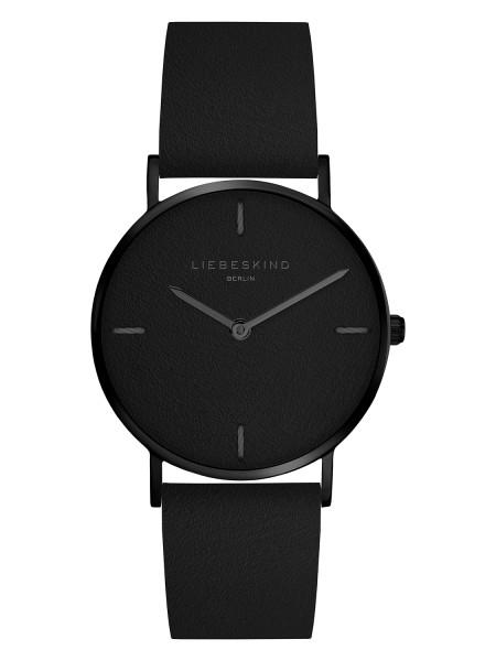 LT-0134-LQ LIEBESKIND BERLIN Armbanduhr Leder Vintage-Look, IP Black 34 mm