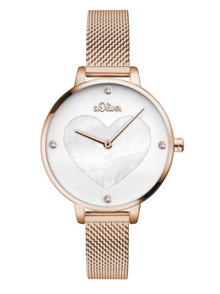SO-3473-MQ s.Oliver Damen Mesh IP Roségold Armbanduhr