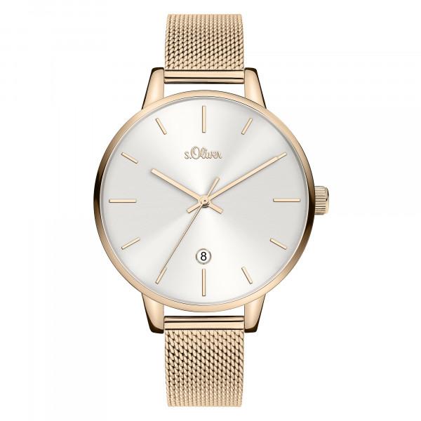 SO-3814-MQ s.Oliver Damen Edelstahl Milanaise Armbanduhr