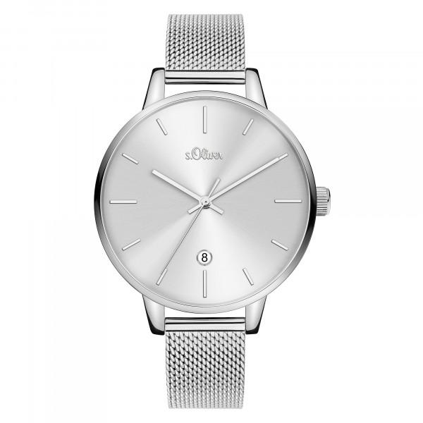 SO-3813-MQ s.Oliver Damen Edelstahl Milanaise Armbanduhr