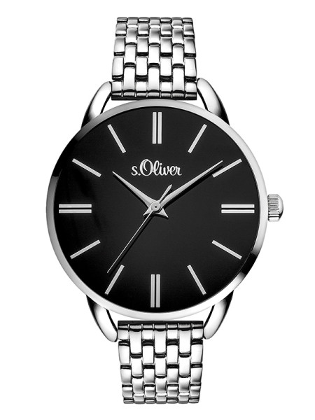 SO-3554-MQ s.Oliver Damen Edelstahl Armbanduhr