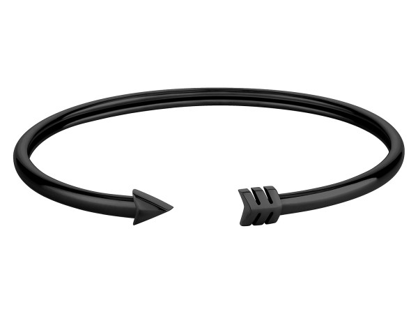 LJ-0192-B-58 Liebeskind Berlin Arrow Bangle IP Black