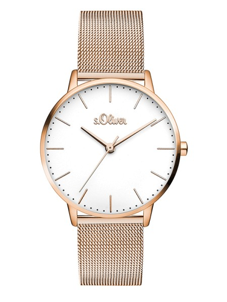 SO-3446-MQ s.Oliver Damen Edelstahl Milanaise Armbanduhr