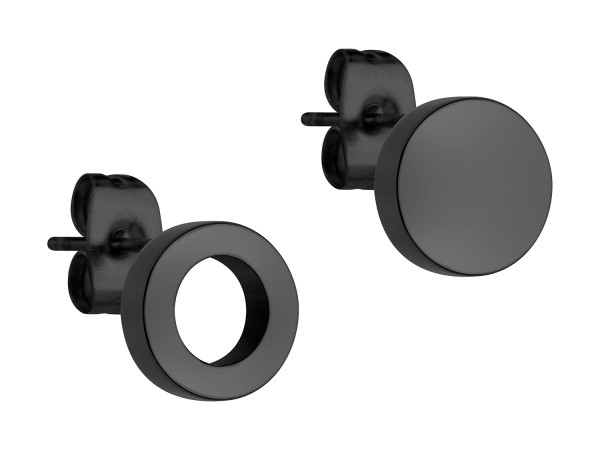 LJ-0339-E-07 LIEBESKIND BERLIN Ohrstecker Größe 7 mm in IP Black