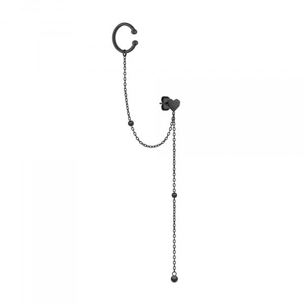 LJ-0865-E-70 LIEBESKIND BERLIN Ohrring mit Ear cuff aus Edelstahl IP Black