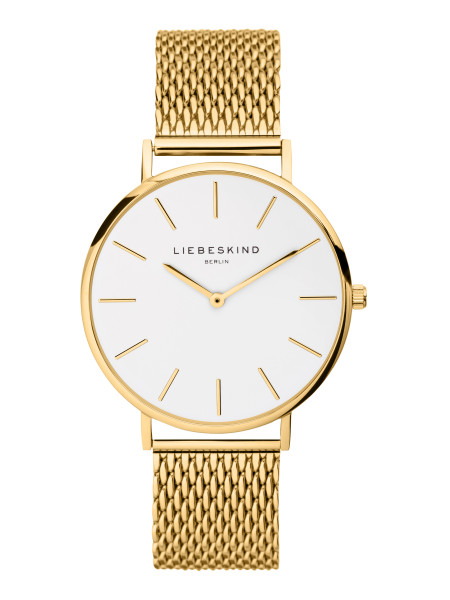 LT-0221-MQ LIEBESKIND BERLIN Armbanduhr Mesh Steel IP Gold, 38 mm