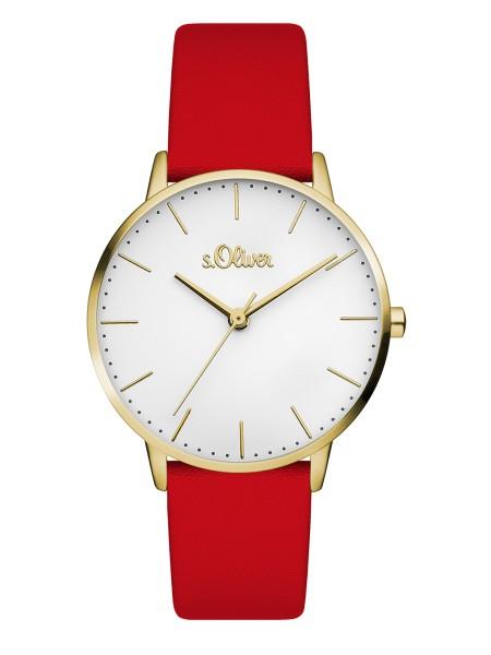 SO-3442-LQ s.Oliver Damen Leder Edelstahl Armbanduhr