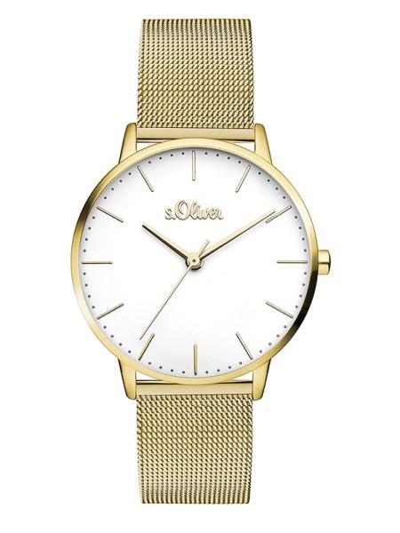 SO-3445-MQ s.Oliver Damen Edelstahl Milanaise Armbanduhr