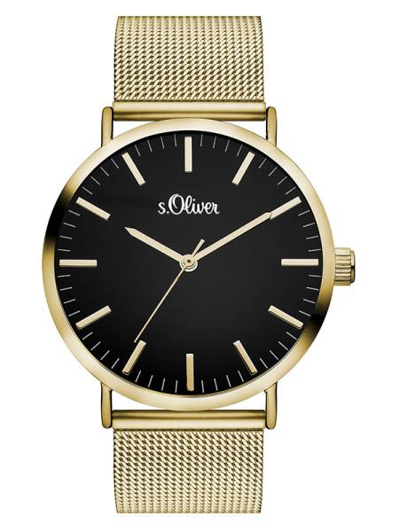 SO-3326-MQ s.Oliver Damen Edelstahl Mesh Armbanduhr