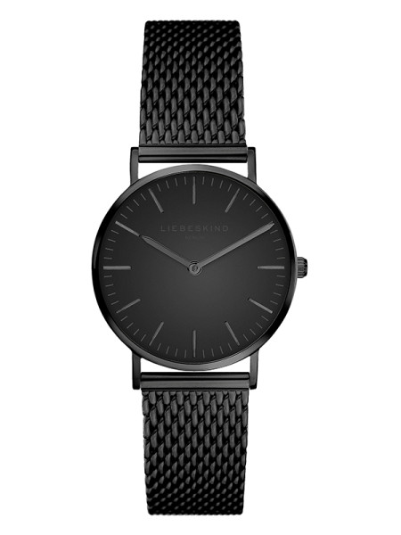 LT-0082-MQ LIEBESKIND BERLIN Armbanduhr Mesh Steel, IP Black 30 mm