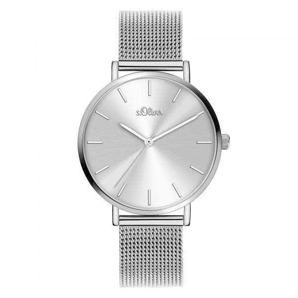 SO-3909-MQ s.Oliver Damen Edelstahl Milanaise Armbanduhr