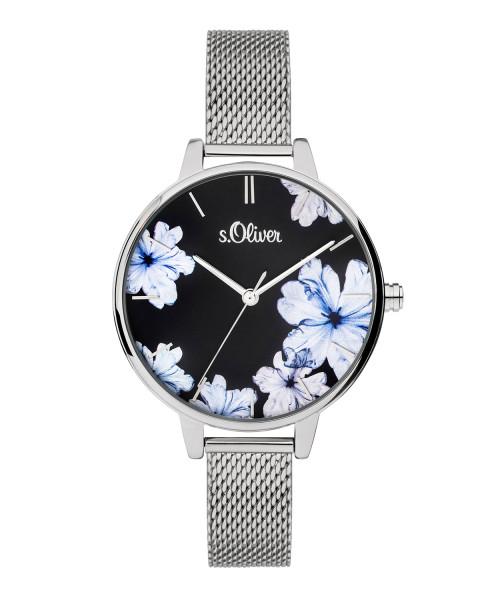 SO-3777-MQ s.Oliver Damen Edelstahl Milanaise Armbanduhr