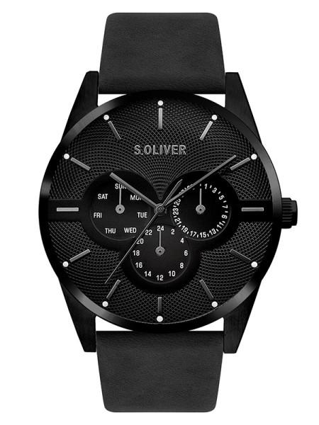 SO-3572-LM s.Oliver Herren Leder Armbanduhr