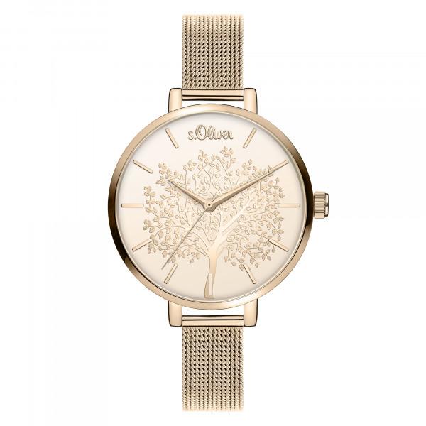 SO-3836-MQ s.Oliver Damen Edelstahl Milanaise Armbanduhr