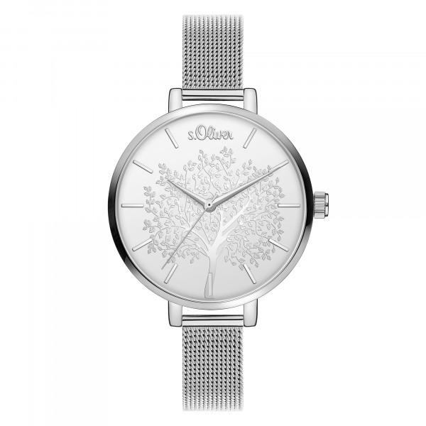 SO-3835-MQ s.Oliver Damen Edelstahl Milanaise Armbanduhr