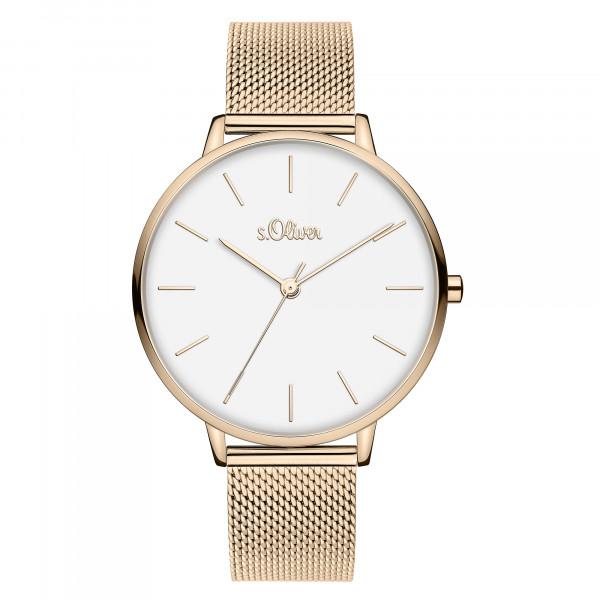 SO-3802-MQ s.Oliver Damen Edelstahl Milanaise Armbanduhr