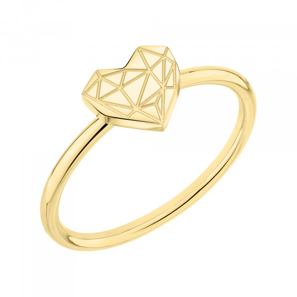 LJ-0867-R-54 LIEBESKIND BERLIN Ring, Edelstahl IP Gold