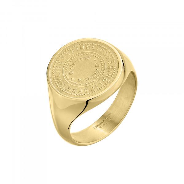 LJ-0714-R-54 LIEBESKIND BERLIN Ring, Edelstahl, IP Gold