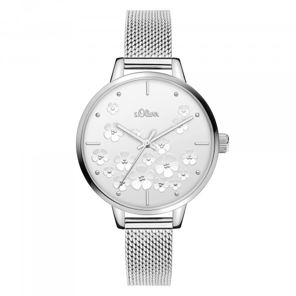 SO-3837-MQ s.Oliver Damen Edelstahl Milanaise Armbanduhr
