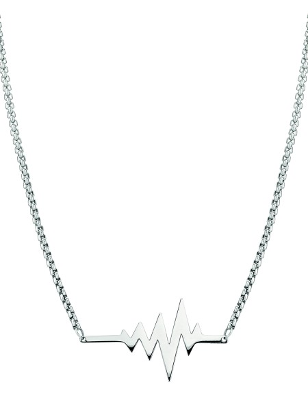 LJ-0152-N-45, Heartbeat Kette Edelstahl, 45cm