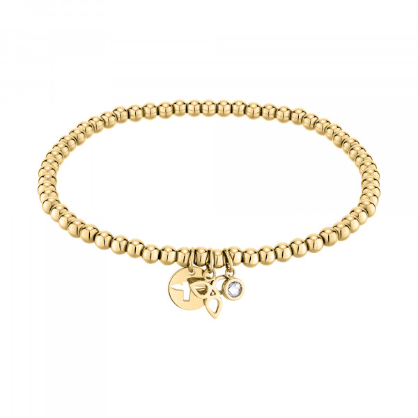 TJ-0011-B-21 Beads Armband in Edelstahl IP Gold
