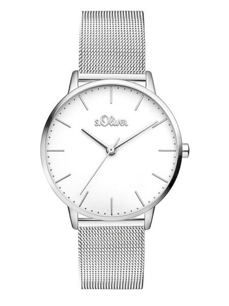 SO-3444-MQ s.Oliver Damen Edelstahl Milanaise Armbanduhr