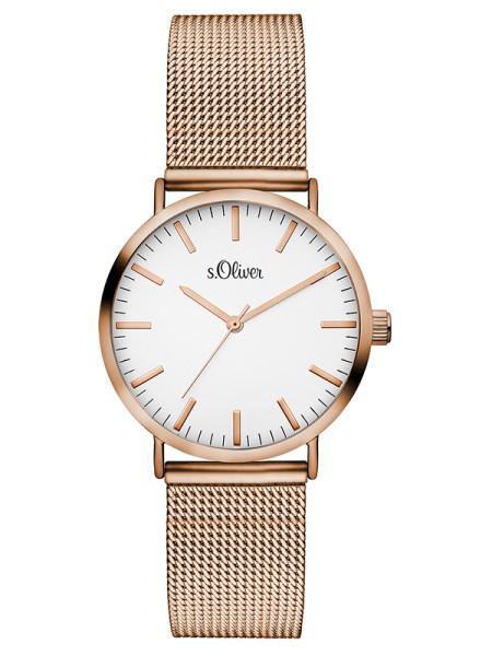 SO-3272-MQ s.Oliver Damen Mesh Armbanduhr