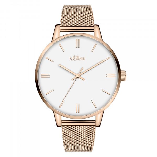 SO-3969-MQ s.Oliver Damen Milanaise Armbanduhr